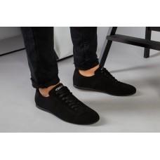 Туфли мужские черные замшевые на шнурках 42
