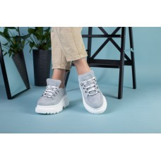 Женские кроссовки, серые замшевые 37