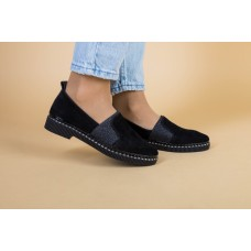 Женские туфли из черной замши 39
