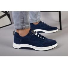 Кроссовки мужские замшевые синие