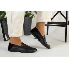 Женские черные туфли, кожа и замша 40