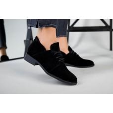 Женские замшевые черные туфли 38