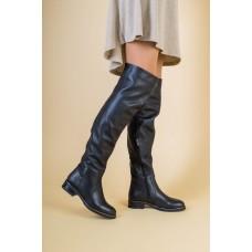 Зимние черные кожаные ботфорты, 40