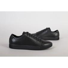 Кеды мужские кожаные черные на кожподкладке