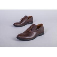 Туфли мужские кожаные коричневого цвета