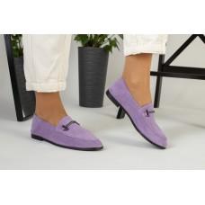 Женские замшевые туфли лиловые 39