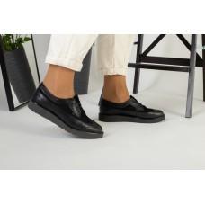 Женские черные туфли на шнурках 41
