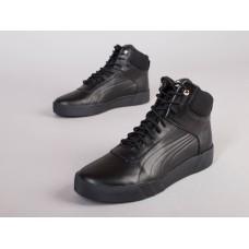 Ботинки мужские кожаные черные демисезонные