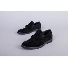 Туфли мужские замшевые черного цвета
