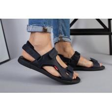 Мужские синие кожаные сандалии