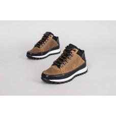 Ботинки мужские кожаные, черный и коричневый, на шнурках, зимние
