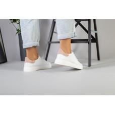 Женские белые кожаные кеды 38