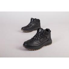 Ботинки мужские кожаные черные зимние