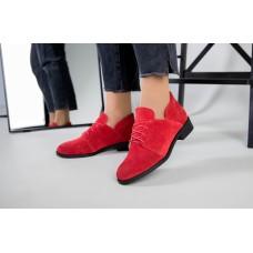 Женские замшевые красные туфли 40